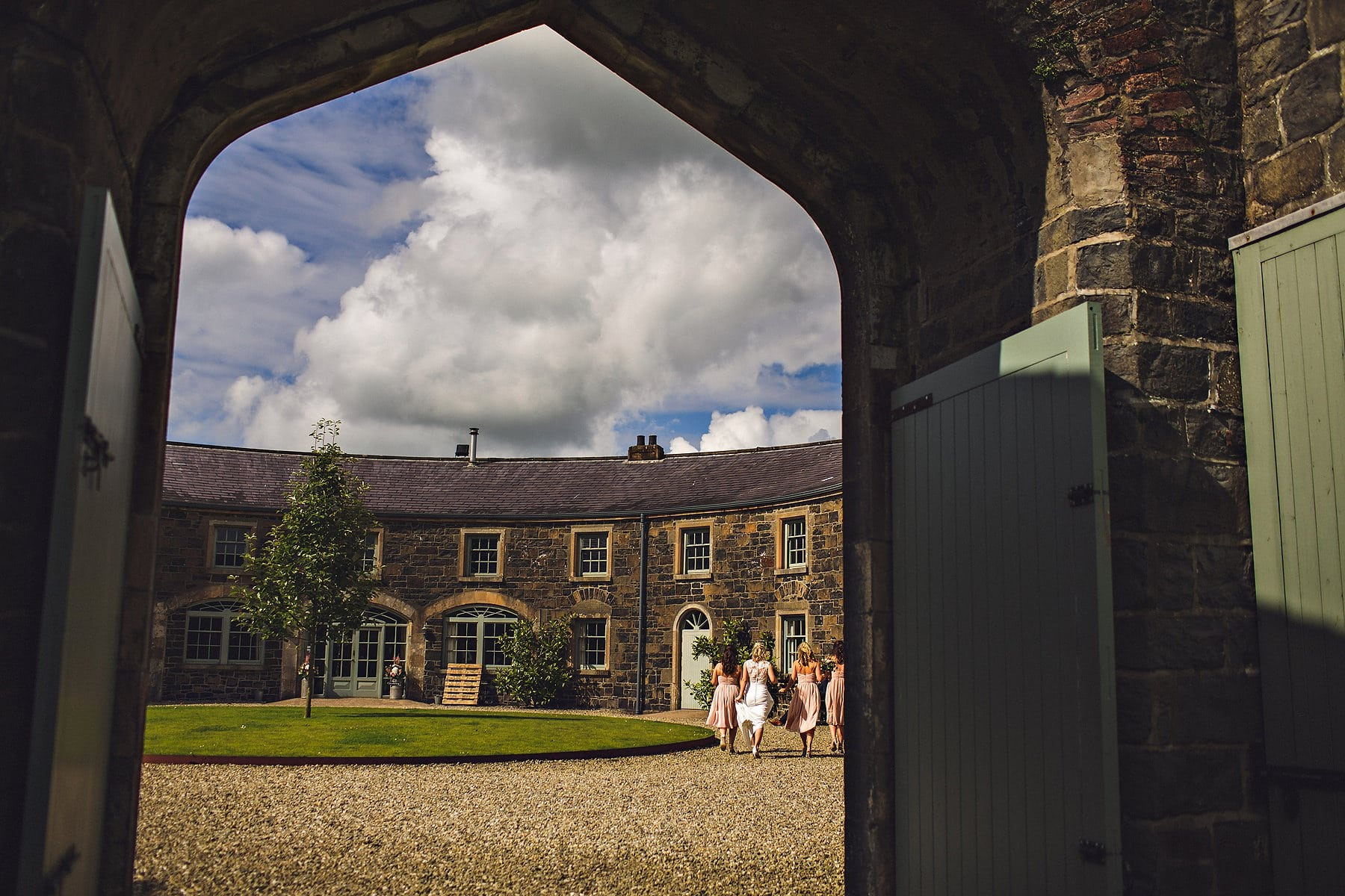 Bride and Bridesmaid Lissanoure Castle Northern Ireland Wedding Photographer,