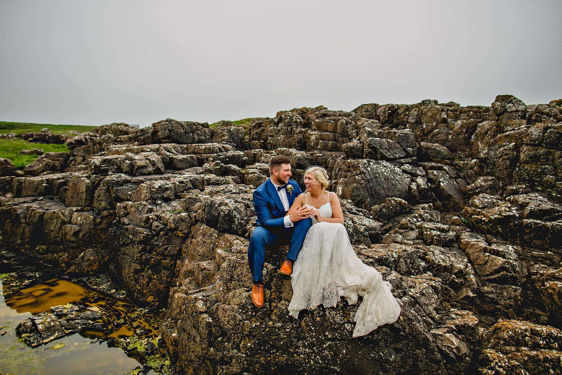 Bride and Groom North Coast Northern Ireland Wedding Photographer,