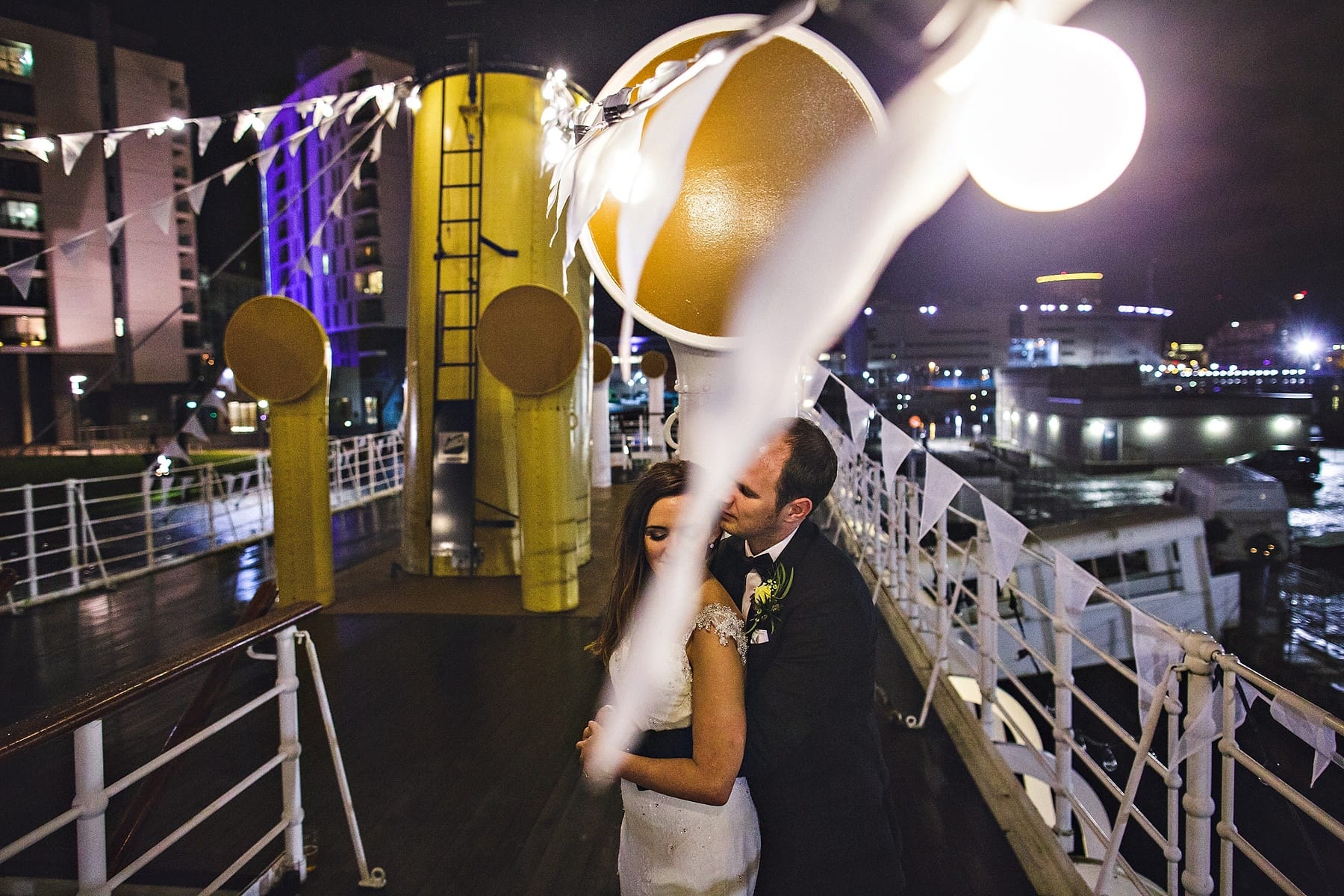 SS Nomadic Belfast Night Wedding Photography,