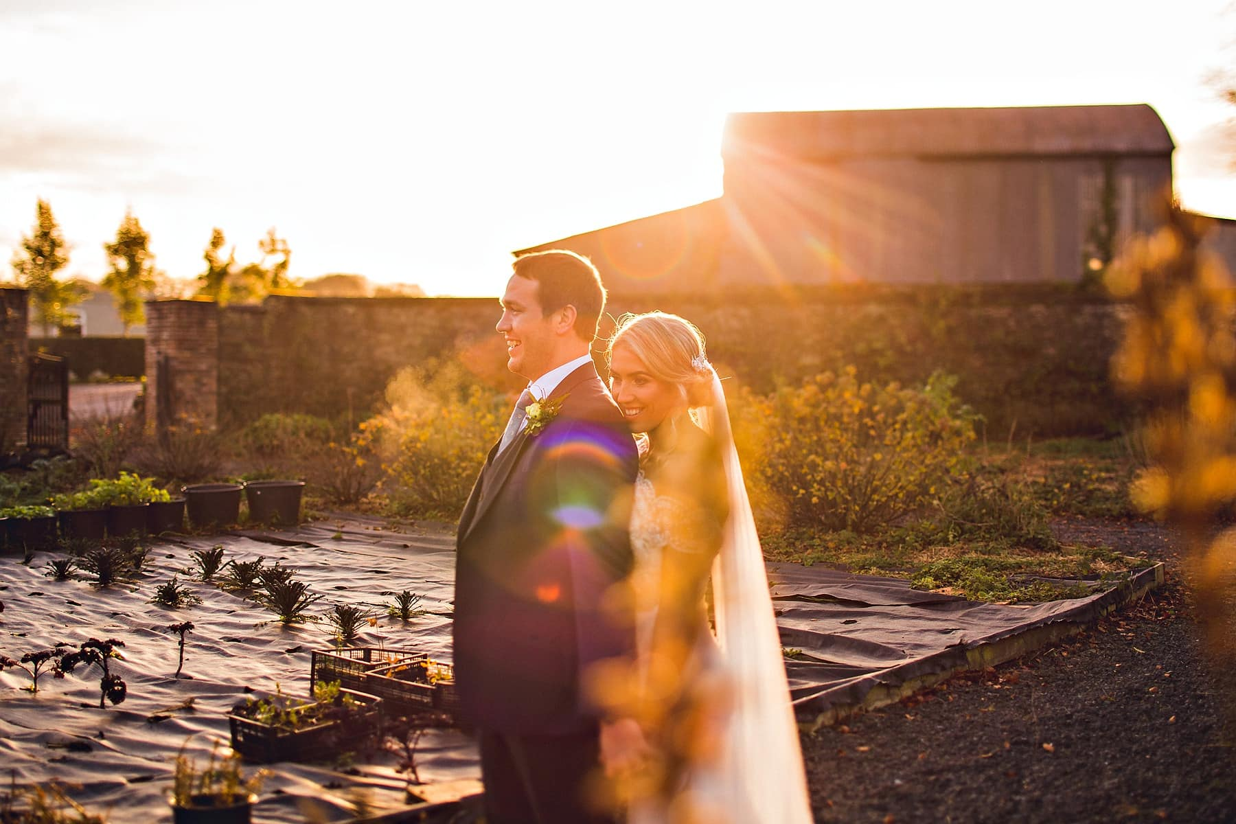 Bride Groom Sunset Tankardstown Wedding Photographer,