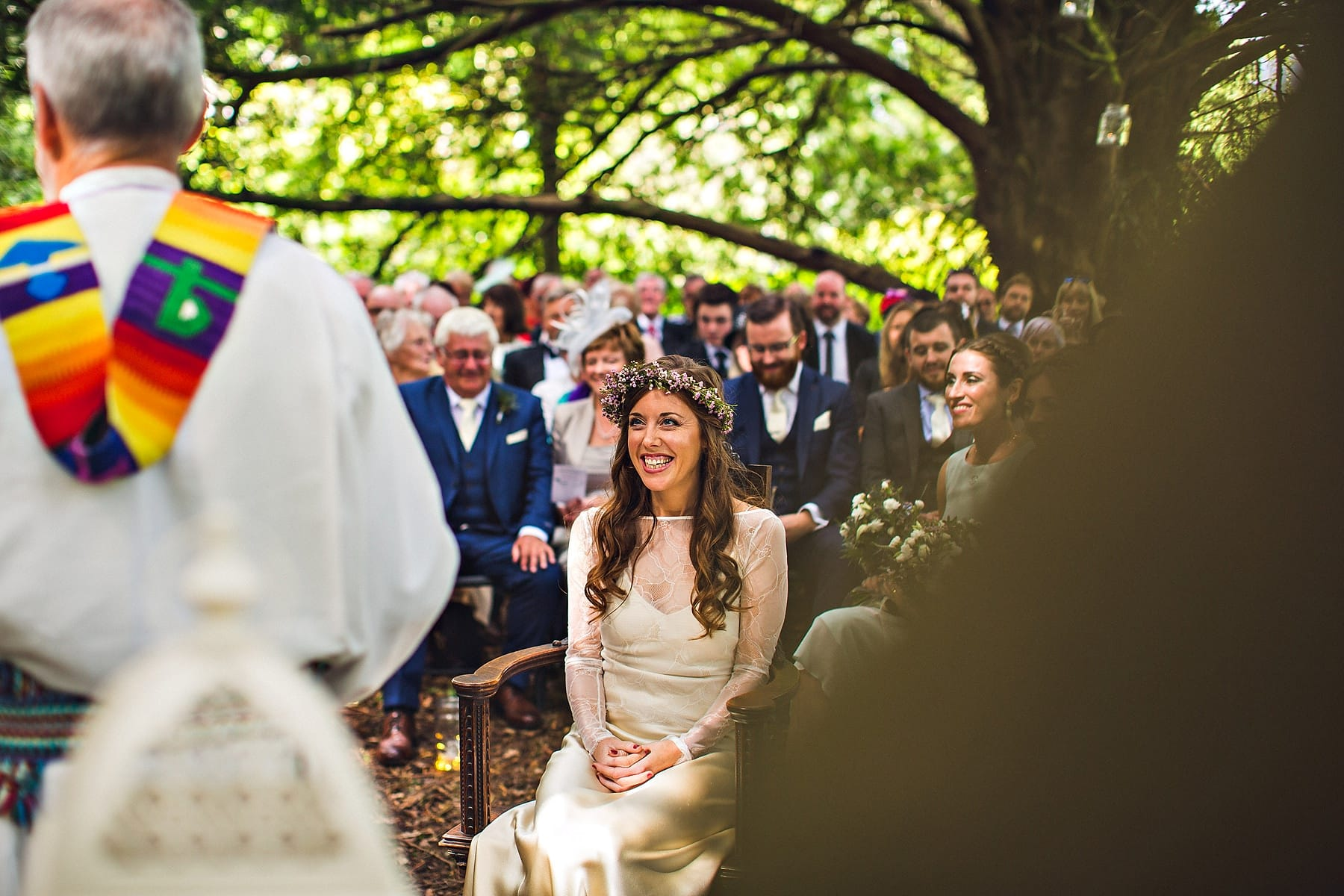 Bride Outdoor Ceremony Markree Castle Sligo Ireland Wedding Photographer,