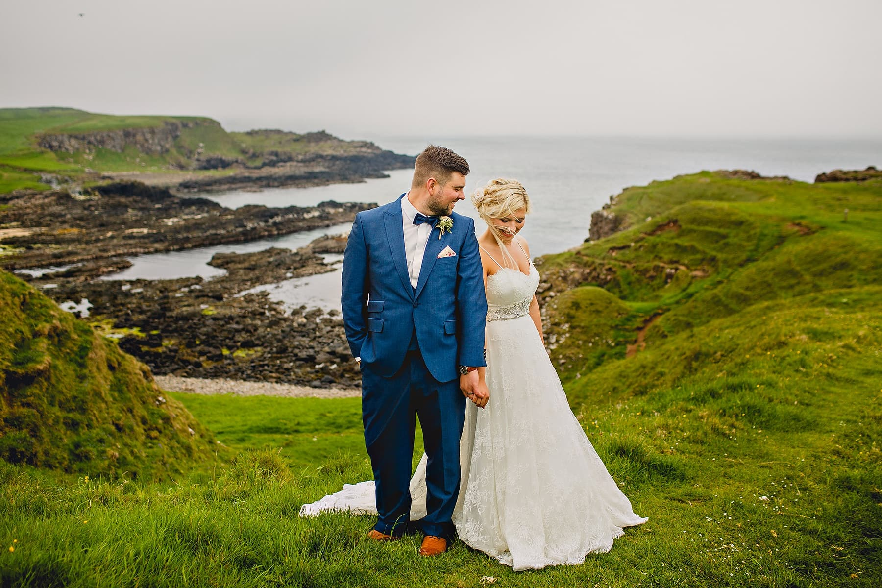 Bride Groom North Coast Cliffs Wedding Photographer,