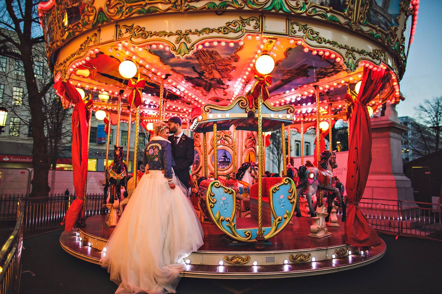 Bride Groom Ferris Wheel Belfast Wedding Photographer,