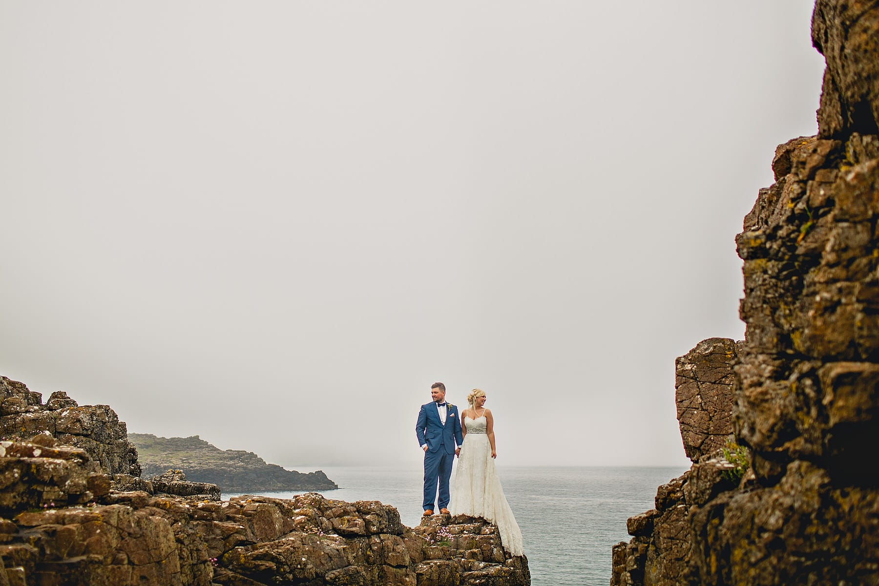 Bride Groom North Coast Cliff Wedding Photographer,