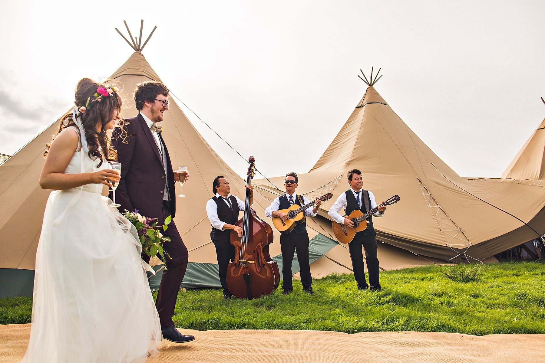 Bride Groom Tipi McShane Glen North Coast Wedding Photographer,