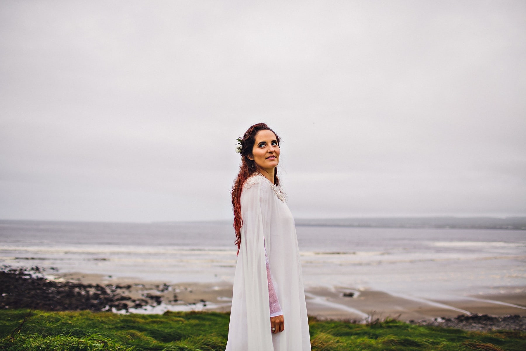 Bride Elopement Cliffs of Moher Ireland Wedding Photographer,