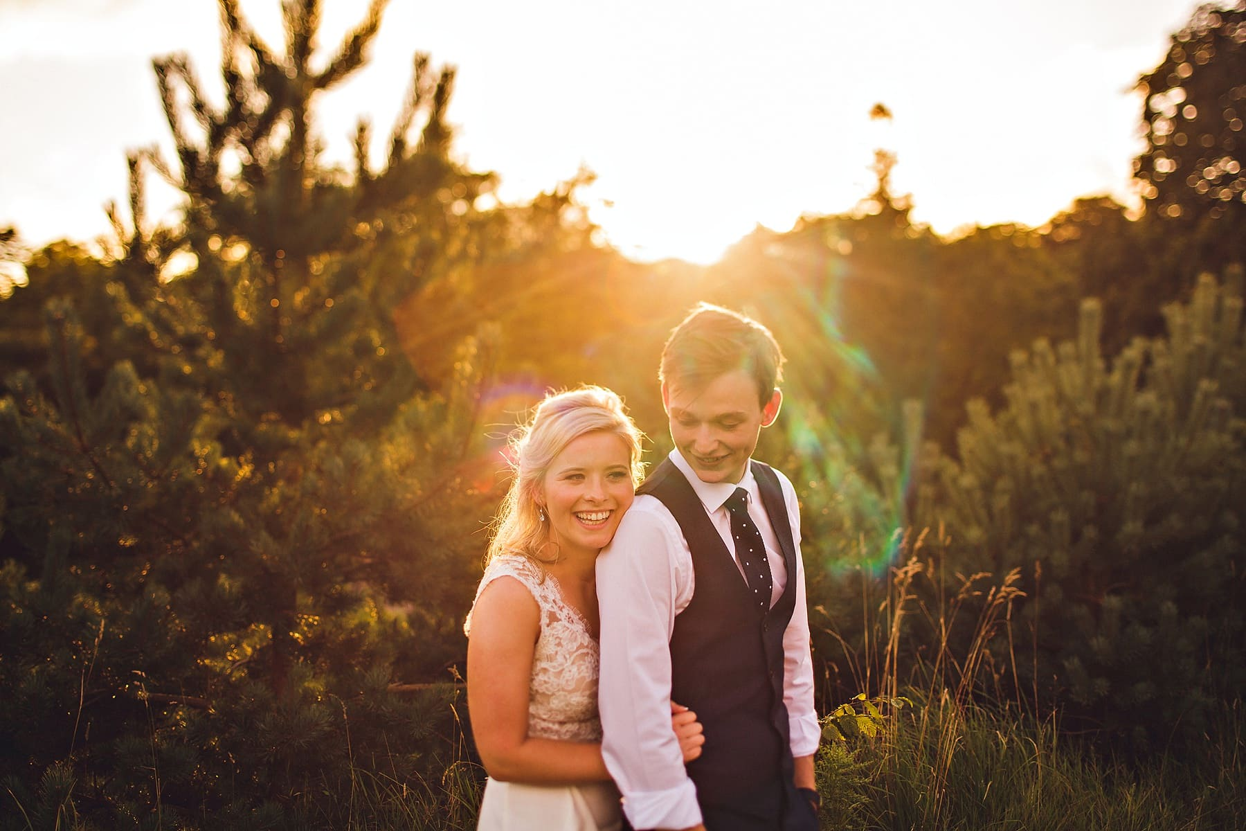 Bride Groom Sunset Lissanoure Castle Wedding Photographer,