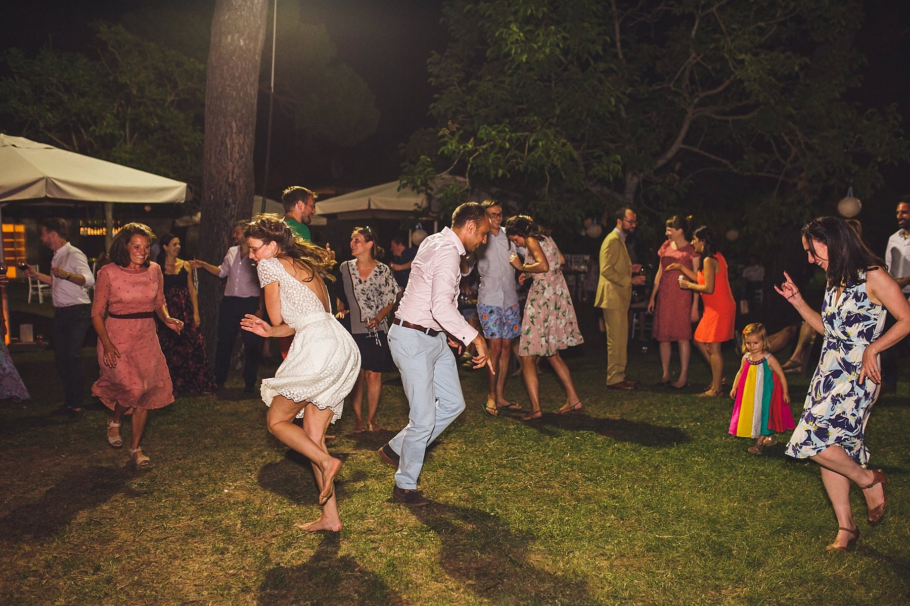 Outdoor Dancing,Wedding at Tenuta La Fratta,Tuscany Wedding Photographer,