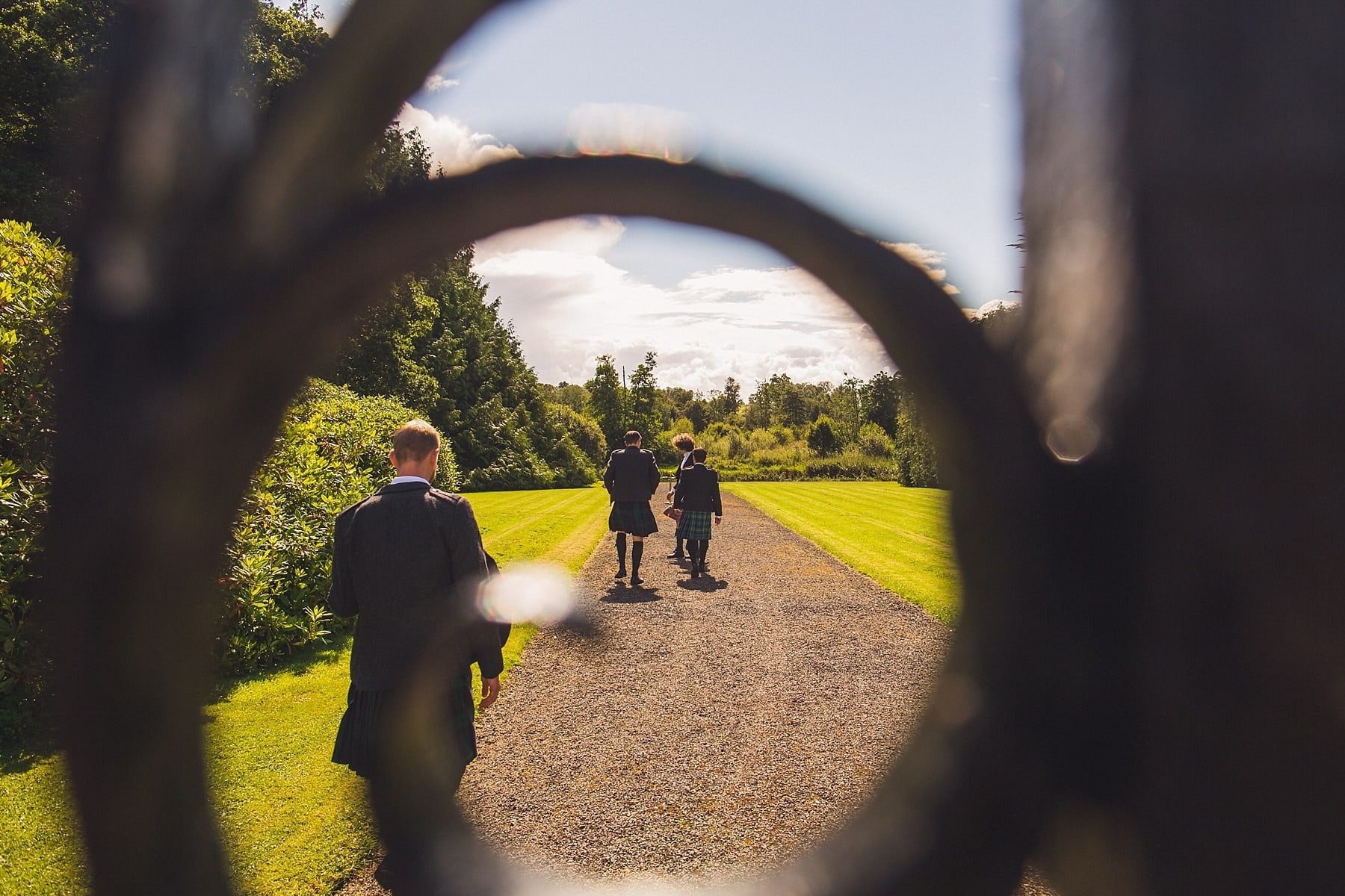 Markree Castle Wedding,Outdoor ceremony,irish wedding photographer,scottish groom,