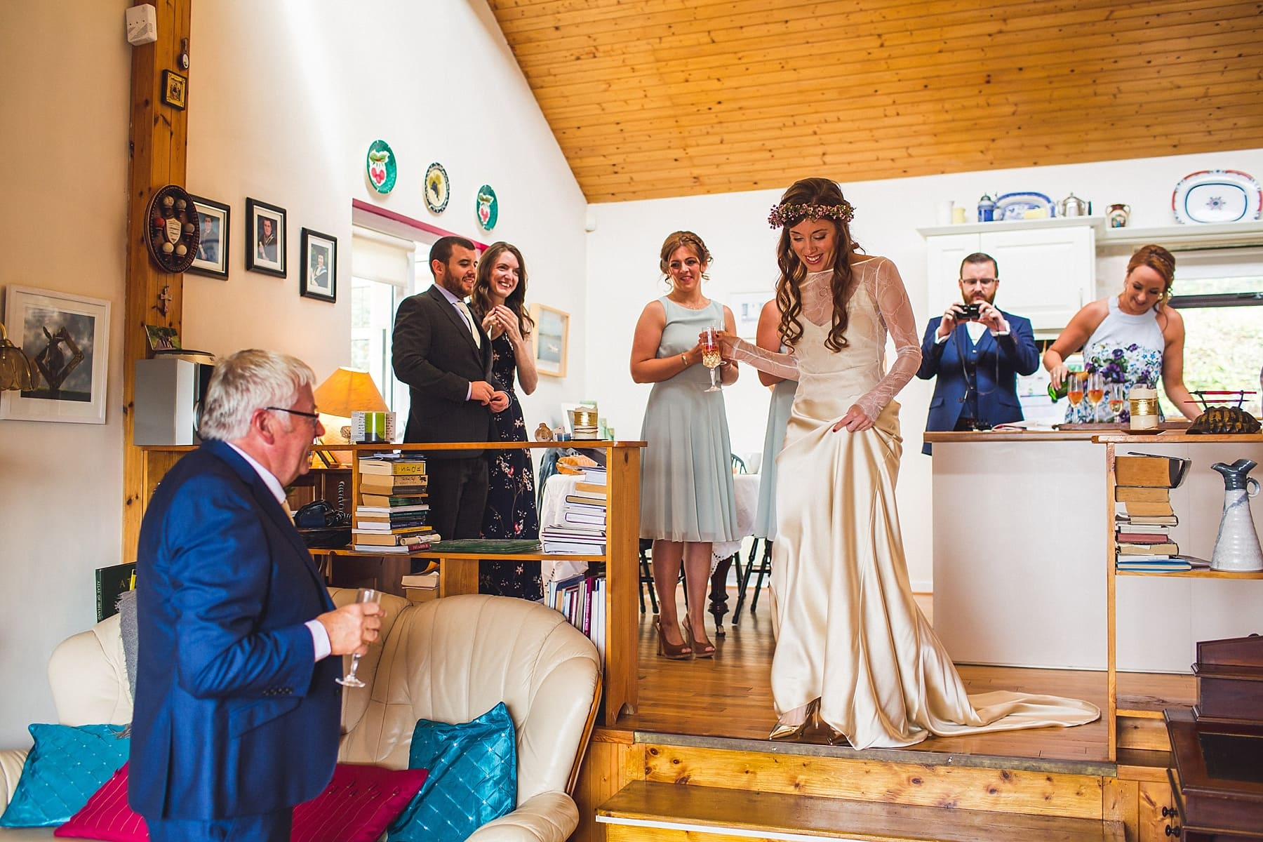 creative irish bride,sligo wedding photographer,boho style,bespoke wedding dress,