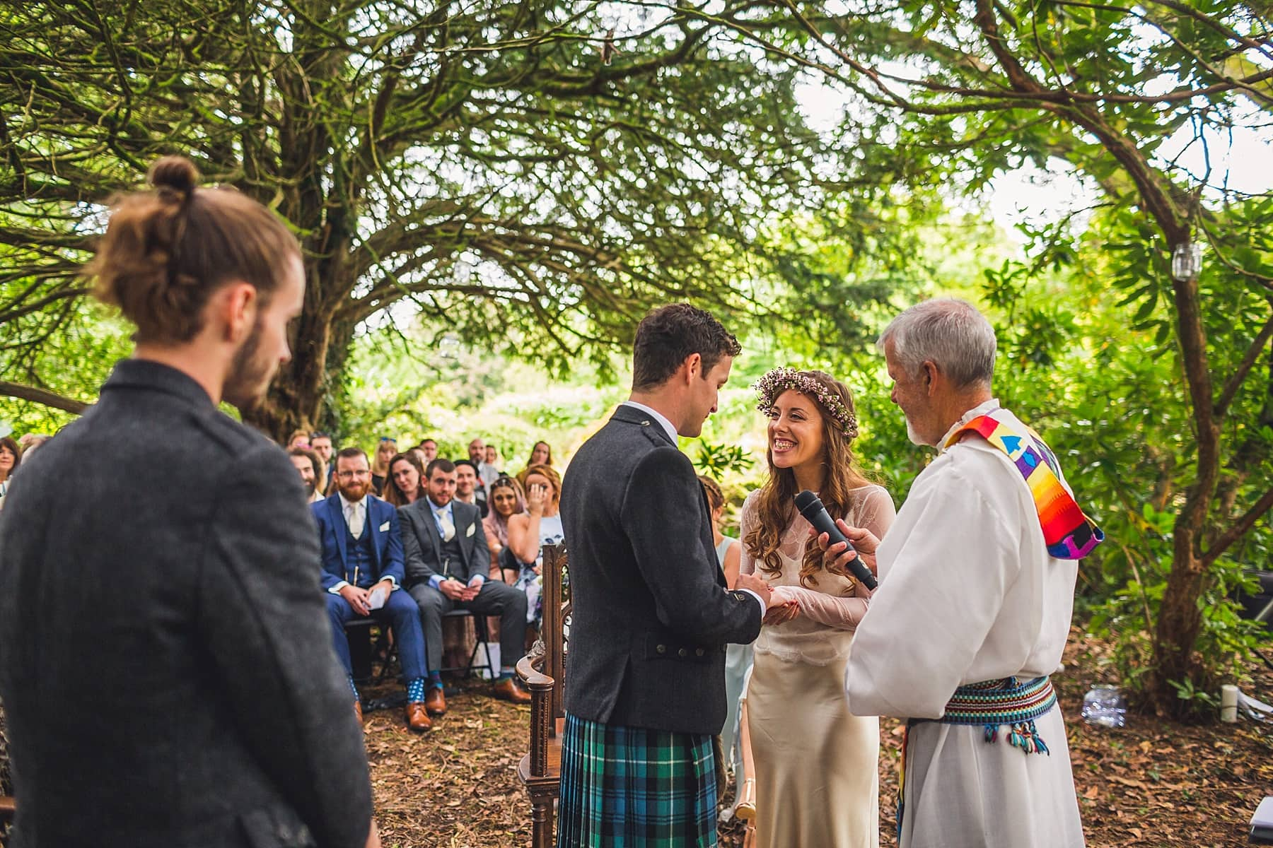 Markree Castle outdoor wedding,humanist ceremony,rainy wedding day,northern irish wedding photographer,