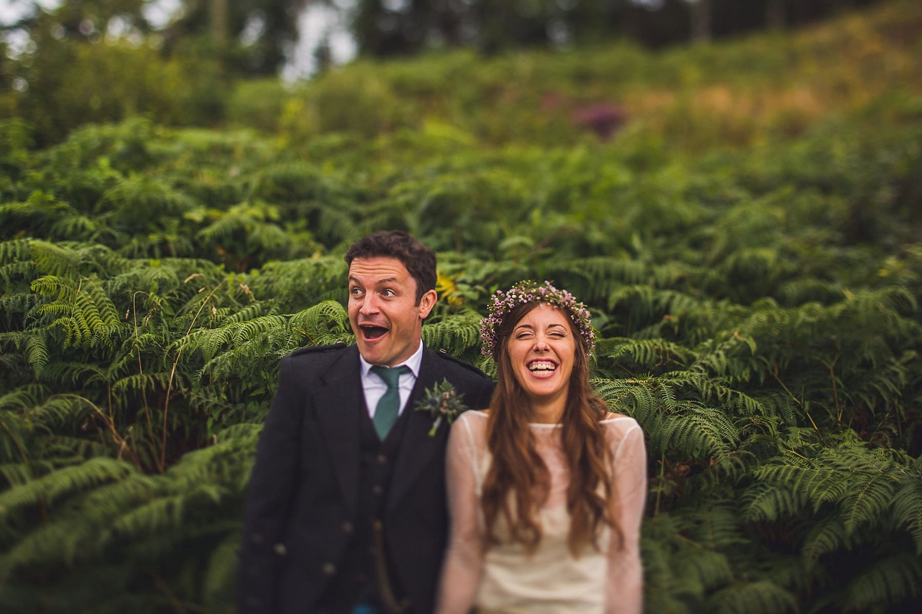 Happy couple,destination wedding photographer,irish elopement,bespoke wedding dress,adventure wedding,creative bride and groom,
