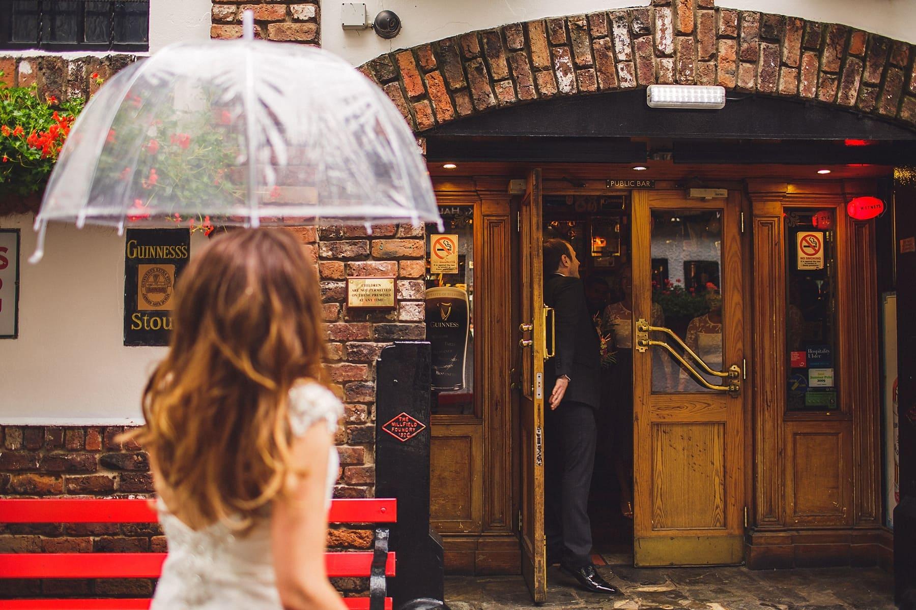 cathedral quarter,belfast wedding photographer,two piece bridesmaids,the flower room,john hewitt bar,first look,