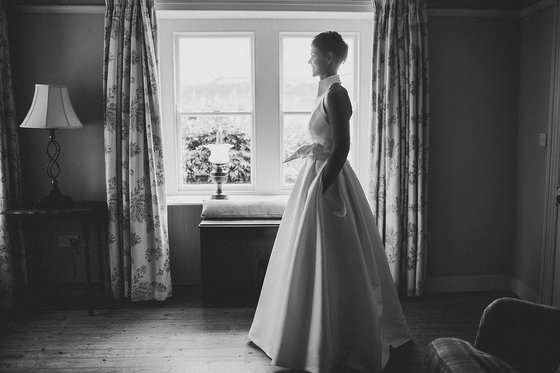 Portbradden harbour wedding,bridal prep,north coast wedding photographer,national trust northern ireland,bride,white bridesmaid dress,