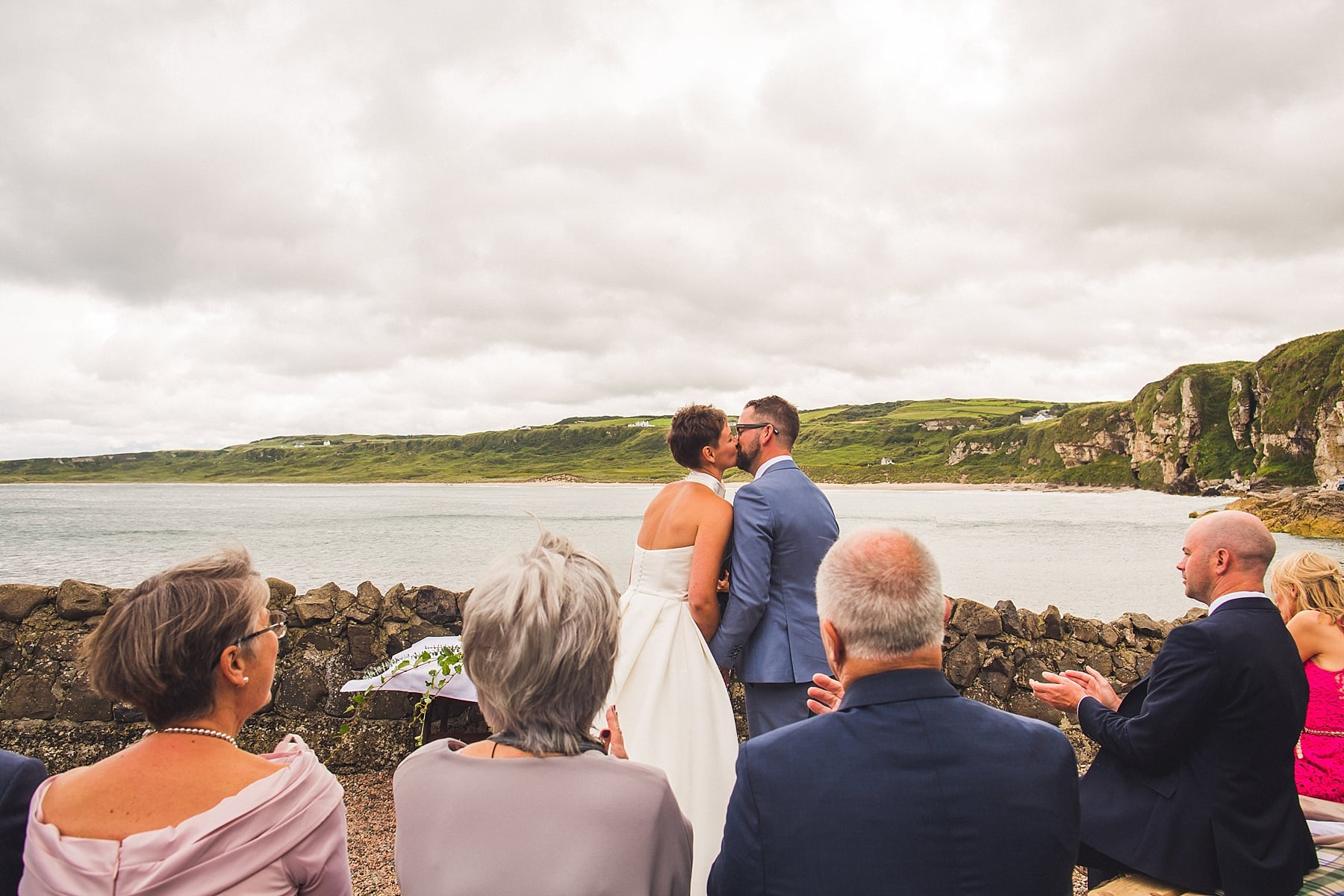 Portbradden harbour wedding,outdoor ceremony,national trust,intimate wedding,north coast ireland elopement,